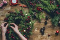 Fabriquer une couronne de Noël soi-même